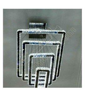 لوستر کریستالی مدرن ۴ طبقه مستطیل ایدوست