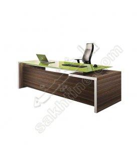 میز مدیریت آریس ال شکل با فایل متصل مدل بارمان