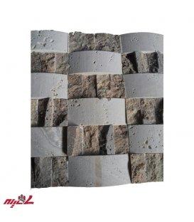 سنگ آنتیک پروفیل آجری سفید با گیوتین شکلاتی